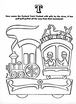 An Eaton's Santa Claus Parade Colouring Book