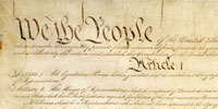 We the People... clip of image from original Constitution