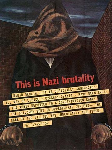 1942 USA WWII effort poster by Ben Shahn