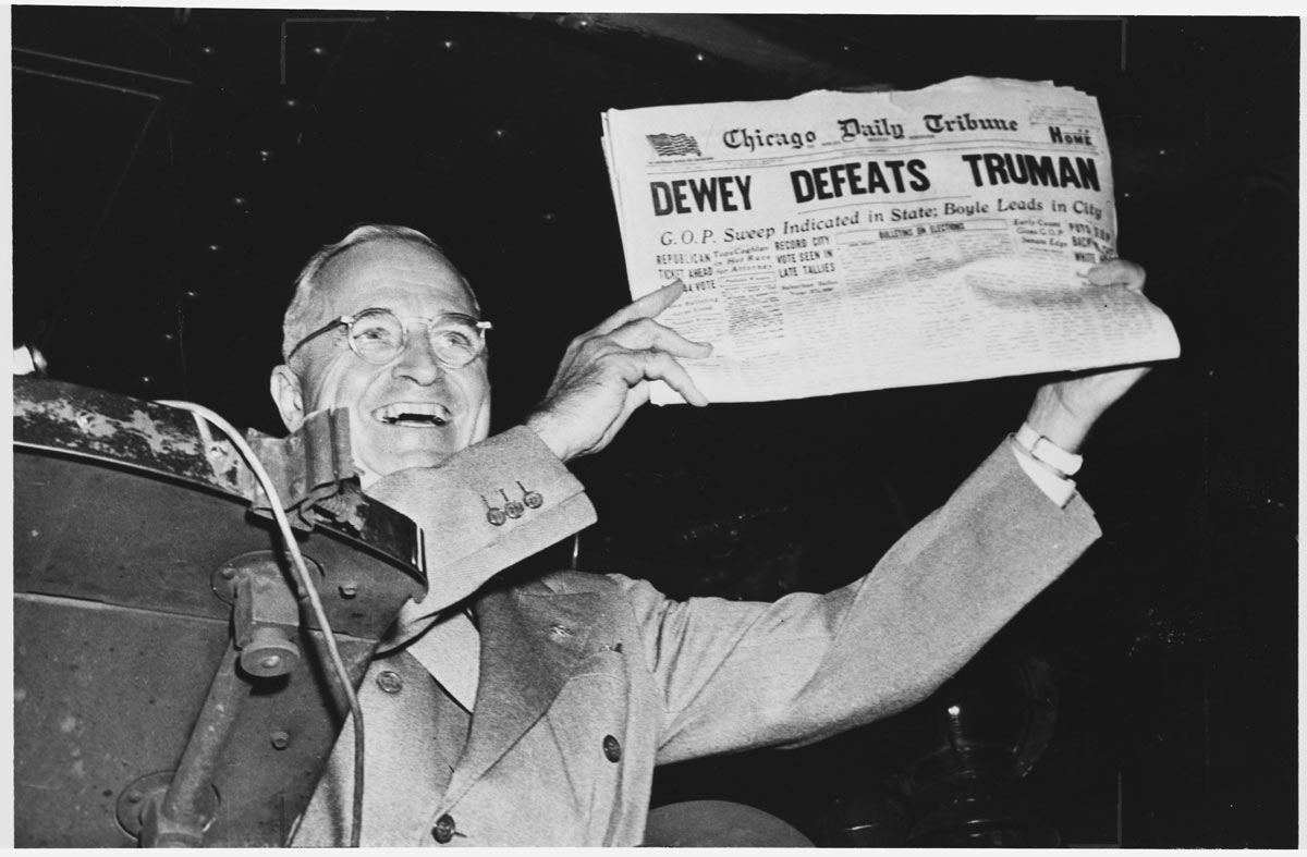 Harry Truman and Chicago Tribune from November 4, 1948
