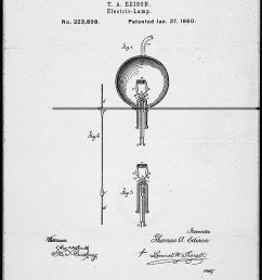 thomas edison s electric lamp patent drawing record group 241 records of the patent and trademark office national archives and records administration  [ 835 x 1200 Pixel ]