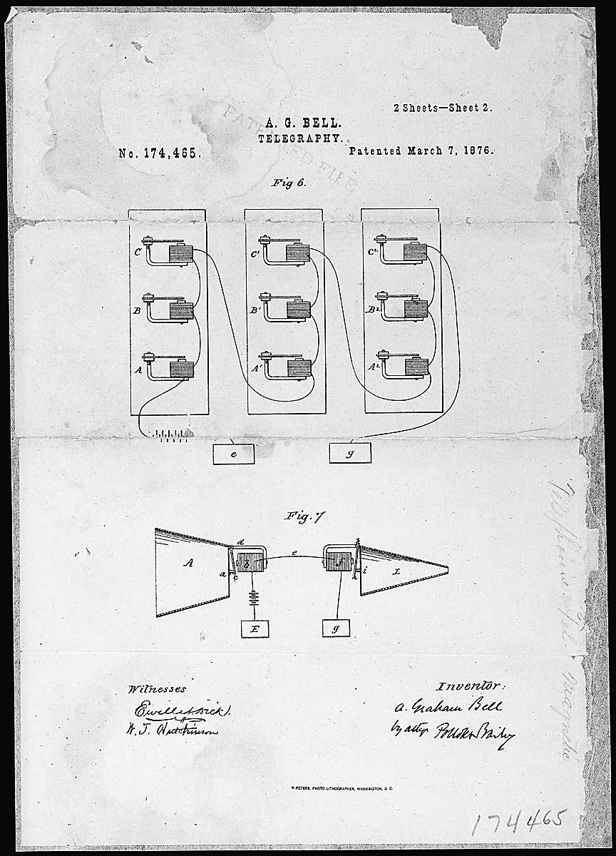 medium resolution of alexander graham bell s telephone patent drawing record group 241 records of the patent and trademark office national archives and records administration