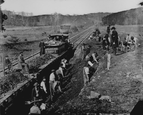 small resolution of excavating for a y at devereux station on the orange and alexandria railroad
