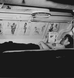 sailor reading in his bunk aboard uss capelin at submarine  [ 1425 x 1076 Pixel ]