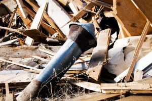 Original Stove Pipe Wreckage