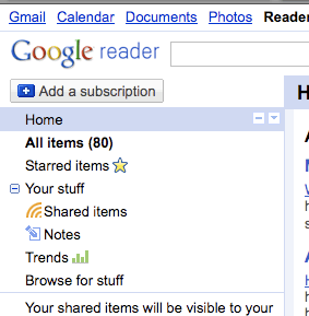 Crowded Google Reader