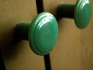 Plastic Green Knobs