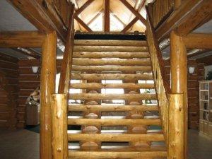 Polished Log Staircase