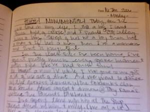 Hand-written Journal Entry