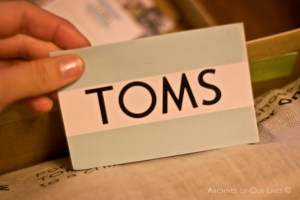 TOMS Decal