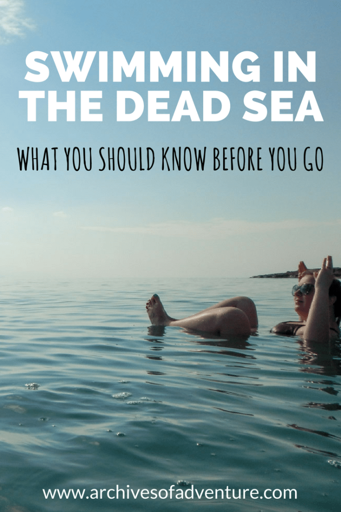 When you visit Israel, you have to visit the Dead Sea! But before you go, here are some tips for swimming in the Dead Sea, Israel! #IsraelTravel #Israel #VisitIsrael #DeadSea