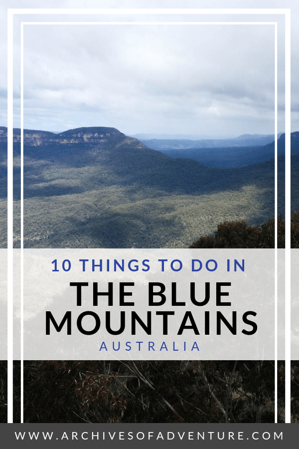If you're looking for a great day trip from Sydney, head to the Blue Mountains! There are lots of things to do in the Blue Mountains, Australia! Enjoy hiking in the Blue Mountains, visit Scenic World, and check out some beautiful waterfalls! #Sydney #AustraliaTravel #BlueMountainsAustralia #SydneyDayTrips #NSWTravel #OutdoorAustralia