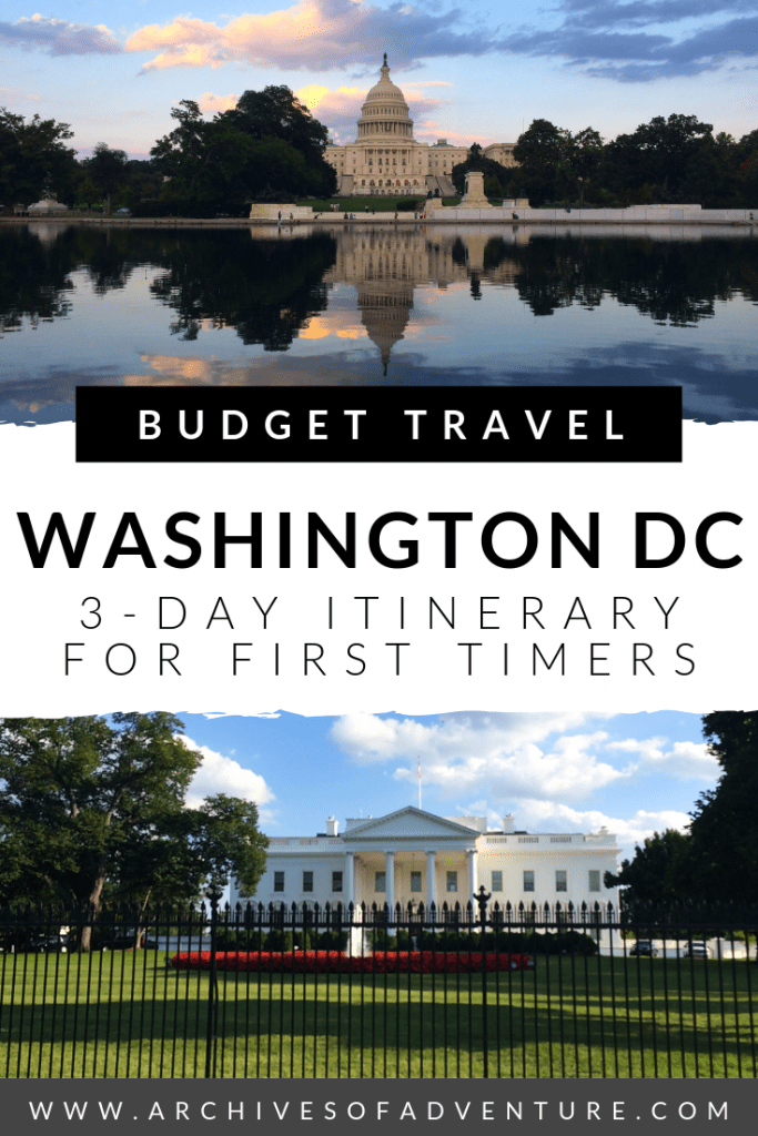If you're a first time visitor looking for a budget-friendly weekend getaway, check out this 3 day itinerary for Washington DC! #WashingtonDC #DC