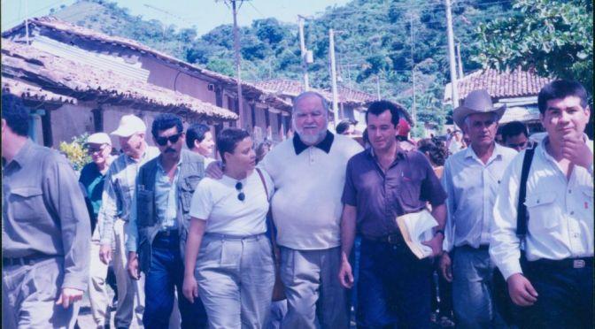 Congressman Moakley in Santa Marta, El Salvador.
