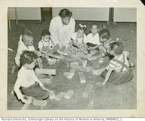 Ruth M. Batson working as a student teacher at Lenox St Housing Project Pre-School.