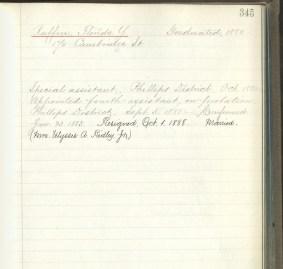 Florida Ruffin's Teacher Qualification Record, 1888, Teacher Qualification registers and index. Courtesy of Boston City Archives.