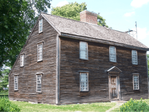 The John Adams Birthplace Home. A panel-based, self-guided tour here will partially focus on John Adams's transition from student to attorney and his early romance with Abigail Smith. (Courtesy of Kurt Deion, 2011).