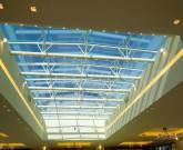 Copertura vetrata in acciaio e vetro
