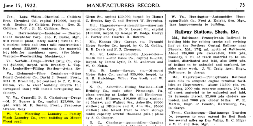 Manufacturers Record. June 15, 1922.
