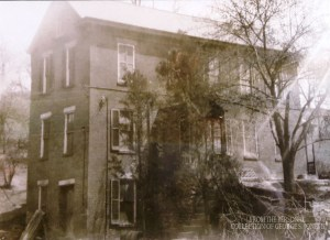 This house, now gone, had a locker room on the second floor and a bag room on the first. Courtesy George S. Jones II.