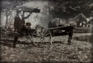 In an undated photograph provided by family, young Dr. Harness is depicted with his horse and buggy. While the location is not known for certain, the photograph is believed to have been taken either in West Virginia or Kentucky.