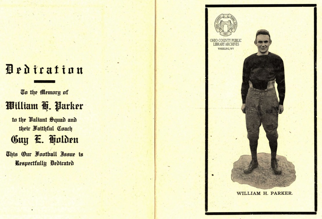 Dedication to Parker in the 1915 WHS Record.