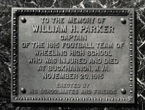 Image of the Parker memorial from the 1916 WHS Record.