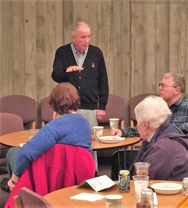 Bob Rine speaks at Elm Grove Memories at Lunch With Books on Dec. 13, 2016.