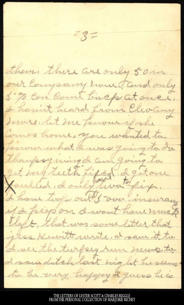 November 25, 1917: From Camp Lee to the Great War: The Letters of Lester Scott and Charles Riggle - From the personal collection of Marjorie Richey