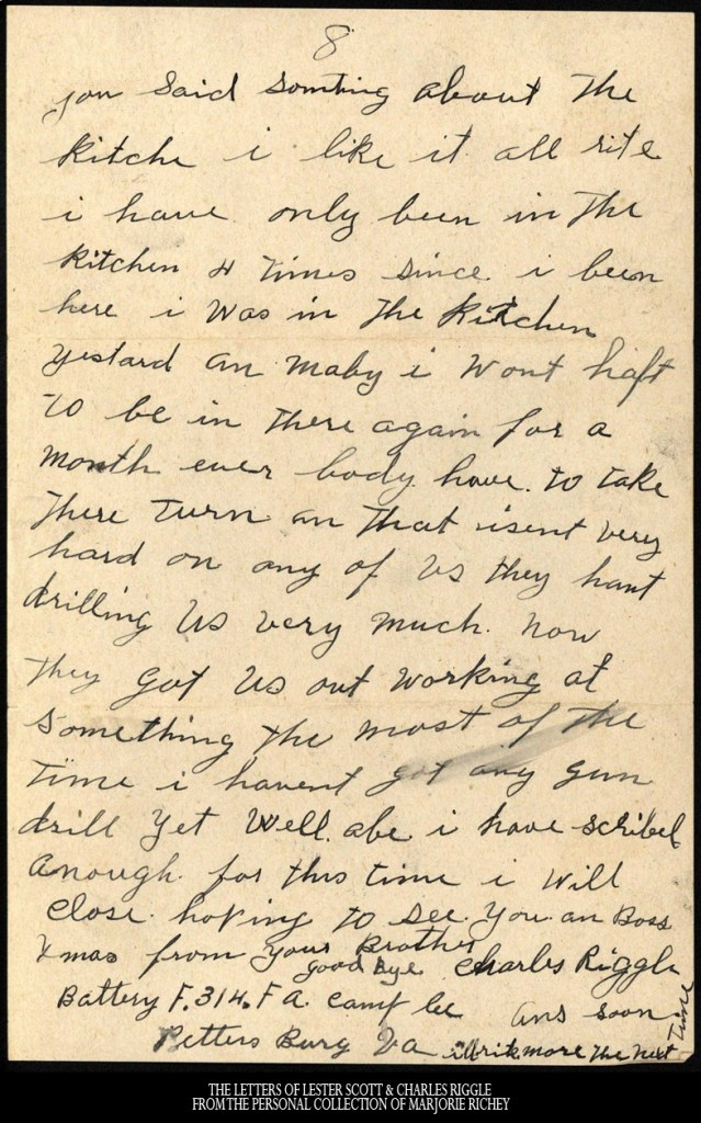 December 7, 1917: From Camp Lee to the Great War: The Letters of Lester Scott and Charles Riggle - From the personal collection of Marjorie Richey