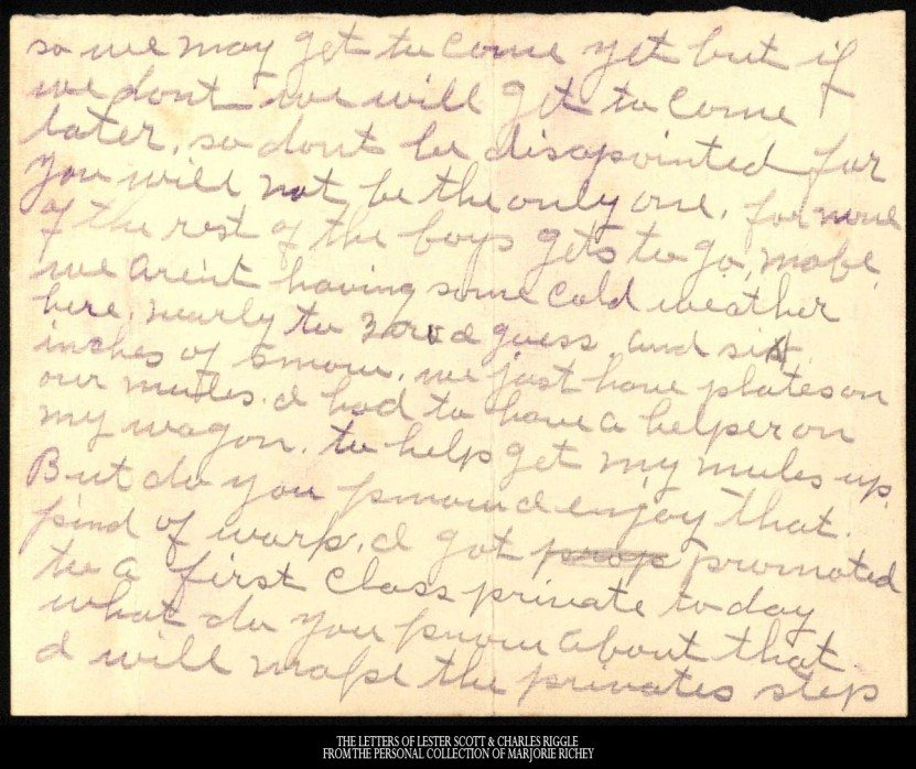 December 15, 1917: From Camp Lee to the Great War: The Letters of Lester Scott and Charles Riggle - From the personal collection of Marjorie Richey