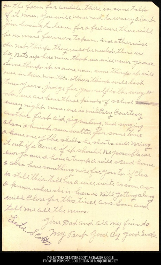 January 19, 1918: From Camp Lee to the Great War: The Letters of Lester Scott and Charles Riggle - From the personal collection of Marjorie Richey