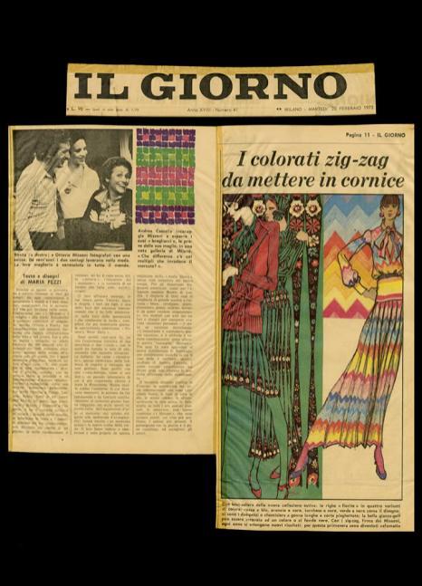 1973 IL GIORNO I colorati zig zag da mettere in cornice