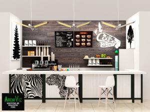 Интерьер кафе Зебра.