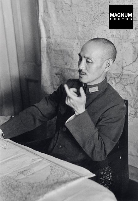 Chiang Kai-shek, máximo general durante la guerra. 1938. Robert Capa