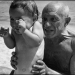 FRANCE. Golfe-Juan. August, 1948. Pablo PICASSO with his son Claude.