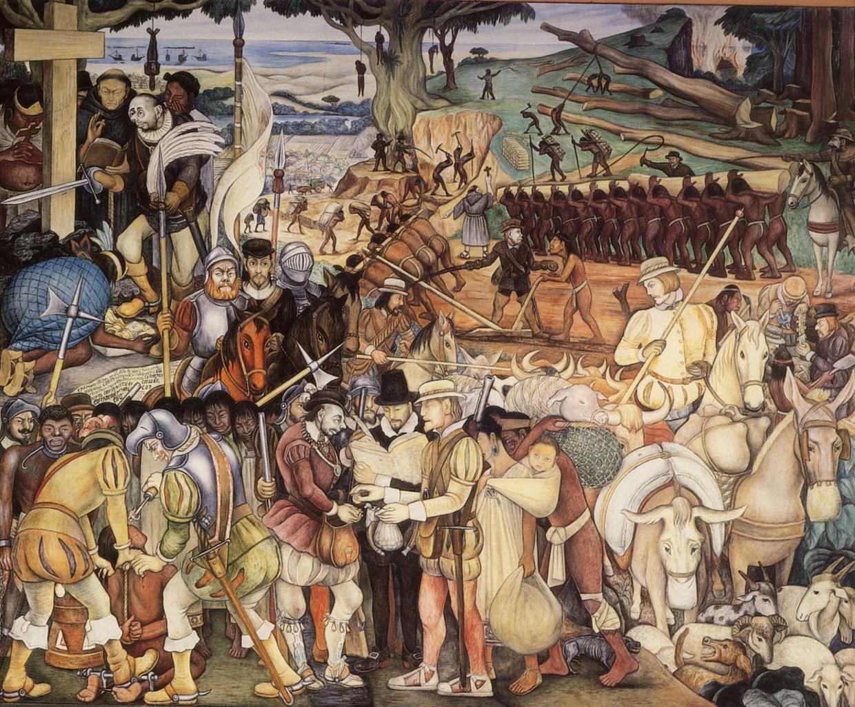 Diego de Rivera Llegada de Cortes
