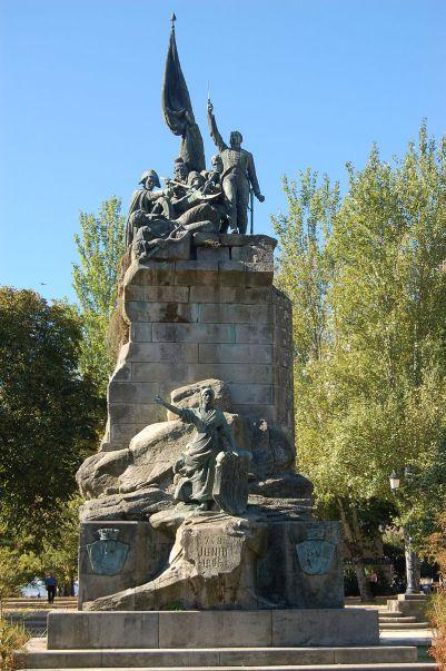 Monumento a los Héroes de Ponte Sampaio levantado en la Plaza de España de Pontevedra (2)