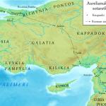 Ruta de las campañas de Aureliano en Palmira (272)