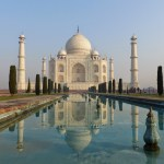 Taj Mahal reflejo agua