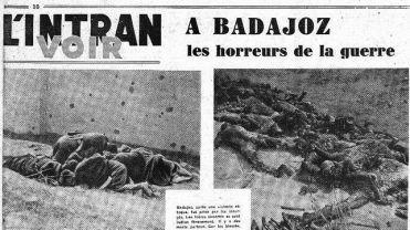 Matanza de Badajoz en los medios franceses