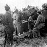 piezas de artilleria asediando badajoz 1936