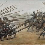 Formación de los Tercios durante la batalla