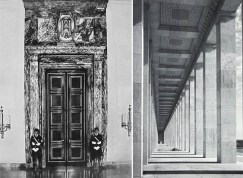 Puertas de la Nueva Cancillería con las iniciales de Adolf Hitler