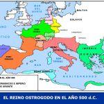 EL REINO OSTROGODO EN EL AÑO 500 d.C.