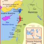 Mapa Tercera Cruzada y dominios de Saladino a finales del siglo XII