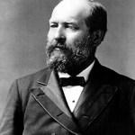 Retrato presidente Garfield 1880
