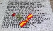 Nombres de los fusilados en Aravaca
