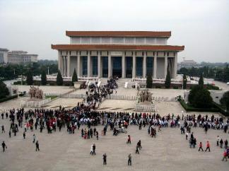 Mausoleo en la plaza de Tiananmen