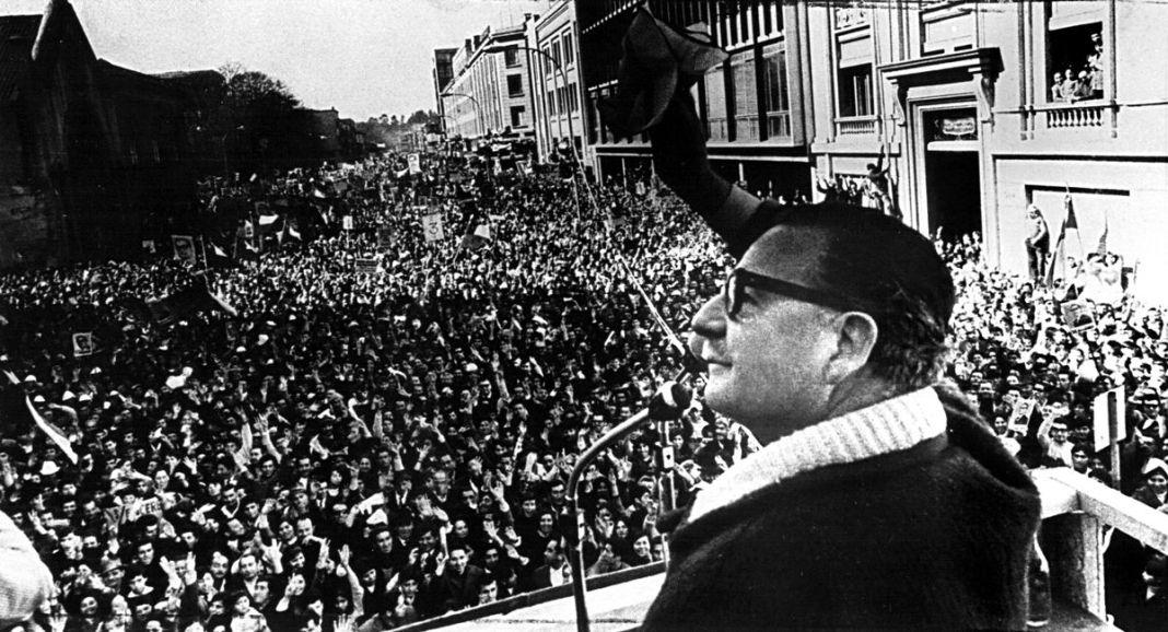Mitin de Salvador Allende.